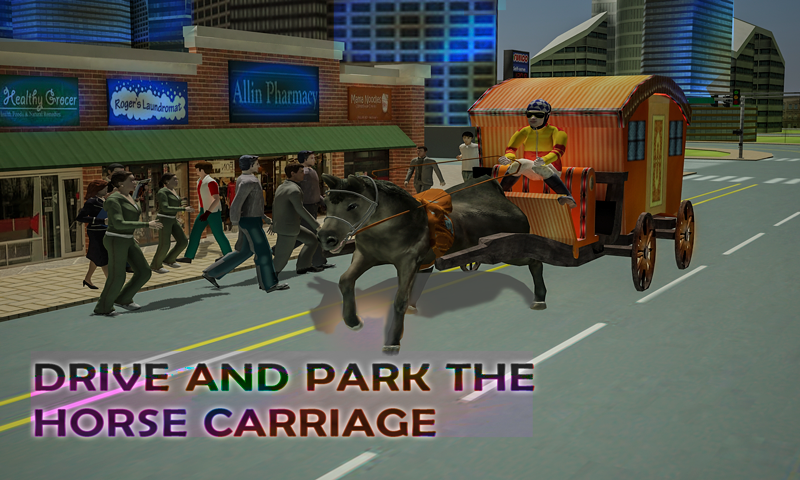 android Horse Carriage Transport Drive Screenshot 2
