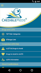 CredibleMeds Mobile - náhled