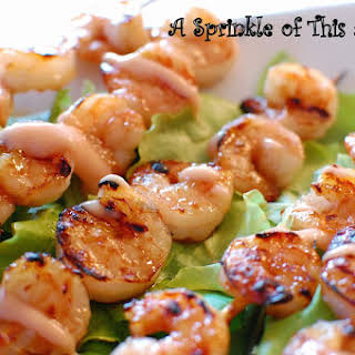 Grilled Guava Shrimp Skewers.