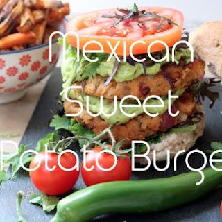 Mexican Sweet Potato Burger