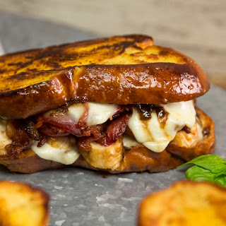 Grilled Cheese with Buffalo Mozzarella, Bacon and Caramelized Onions Recipe