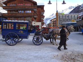 Photo: Zermatt Bahnhof and Hotel Carriage