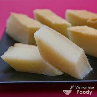 Vietnamese Coconut Cassava Cake (Banh Khoai Mi Recipe)