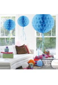 Dekorationsboll, blå 30 cm