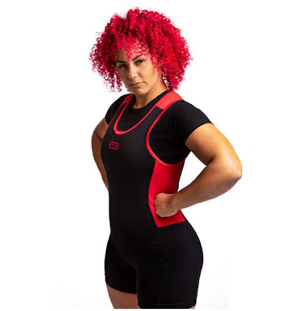 SBD Singlet Womens, Black/Red
