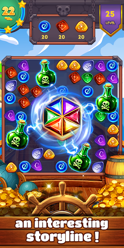 Jewels Pirate Fever - screenshot