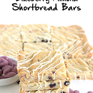 Blueberry Almond Shortbread Bars.