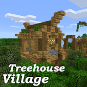 Treehouse Village map MCPE
