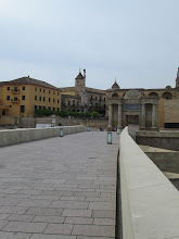 Photo: A view of the Roman Bridge with the Great Mosque in the background.