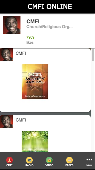 CMFI Online- screenshot