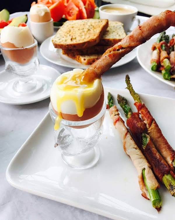 Egg And Bacon Wrapped Asparagus Breakfast Recipe