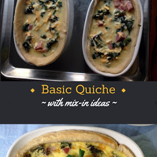 Basic Quiche Recipe with Mix In Ideas