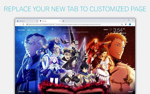 Black Clover Anime Wallpaper HD Custom NewTab