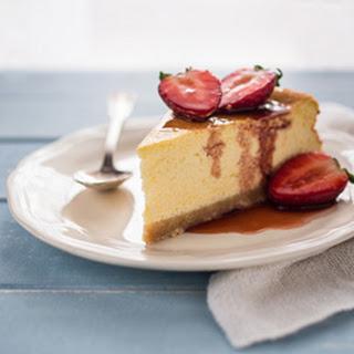 Ricotta Cheesecake with Balsamic Strawberries