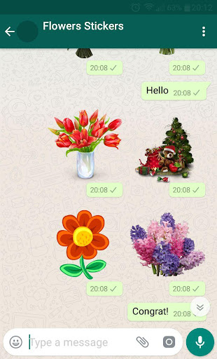 New WAStickerApps ud83cudf39 Flower Stickers For WhatsApp 1.3 screenshots 3
