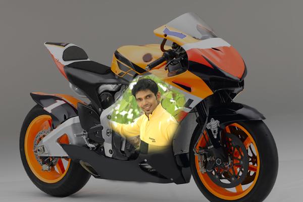 Photo Print on Bike - screenshot