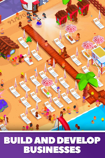 Idle Beach Tycoon : Cash Manager Simulator apktram screenshots 2
