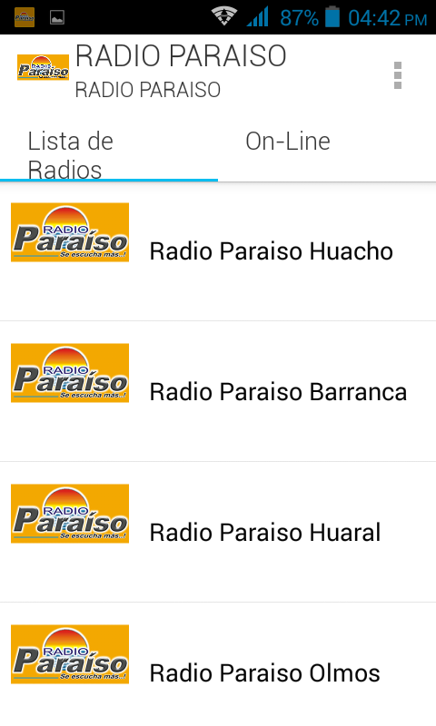 Radio Paraiso- screenshot