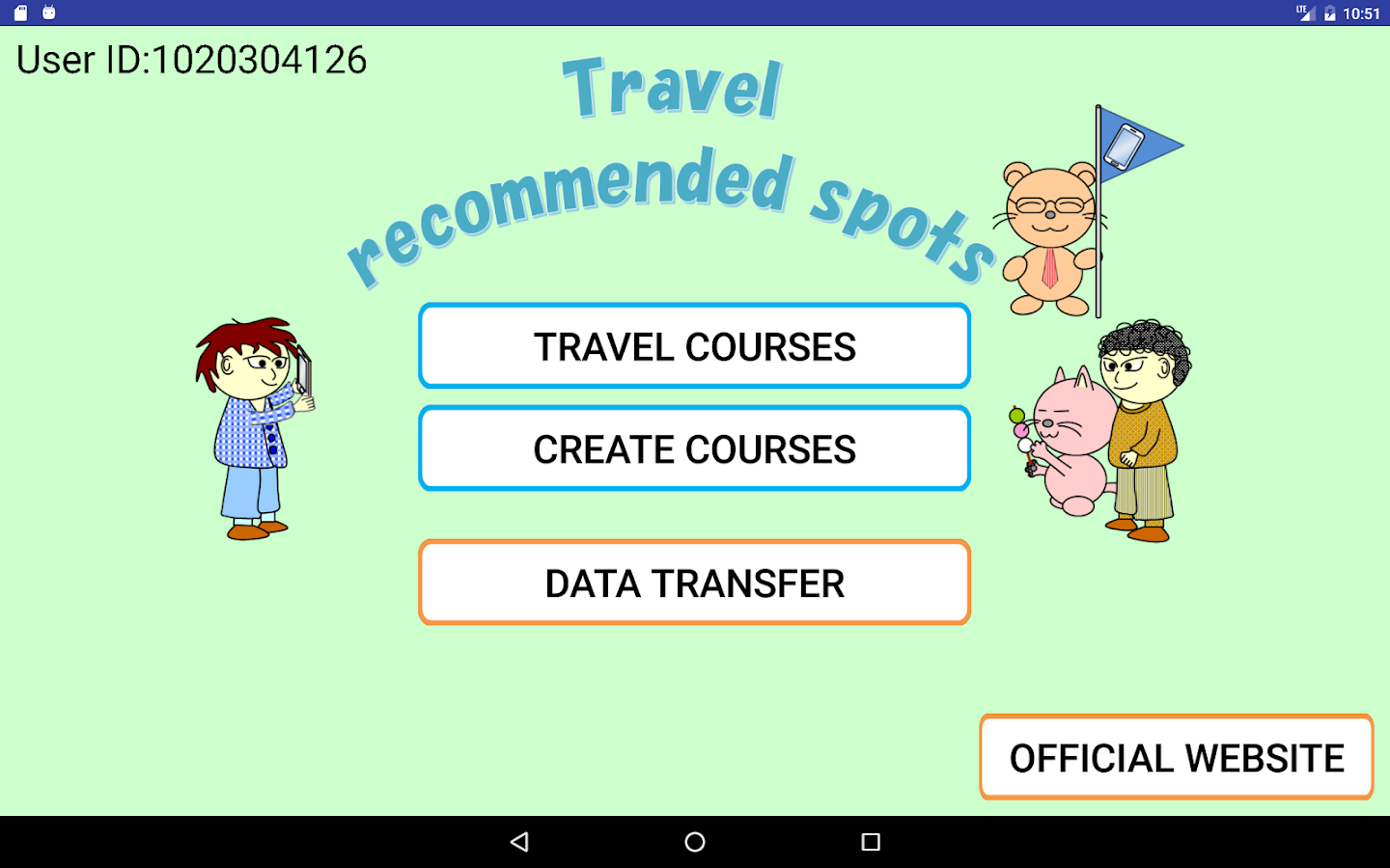 Travel recommended spots- screenshot