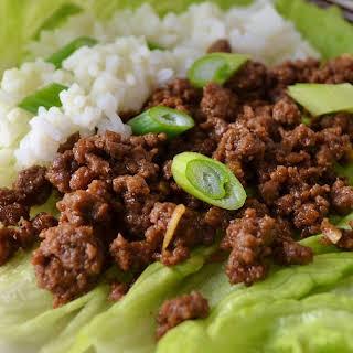 Korean Ground Beef Lettuce Wraps.