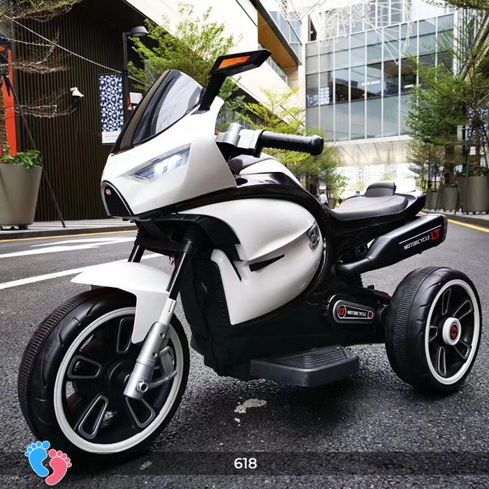 Xe mô tô điện cho bé điều khiển tay ga LT-618 12