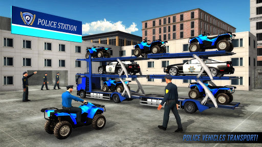 US Police ATV Quad Bike Plane Transport Game  screenshots 1