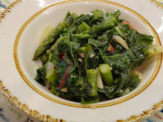 Quick Tasty Red Swiss Chard W/asparagus Recipe