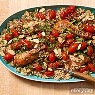 Middle Eastern Chicken & Rice Platter
