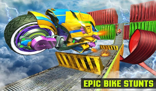 Impossible Bike Parking Tracks Robot Transform 3D- screenshot thumbnail