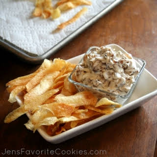 Potato Chips and Caramelized Onion Dip.