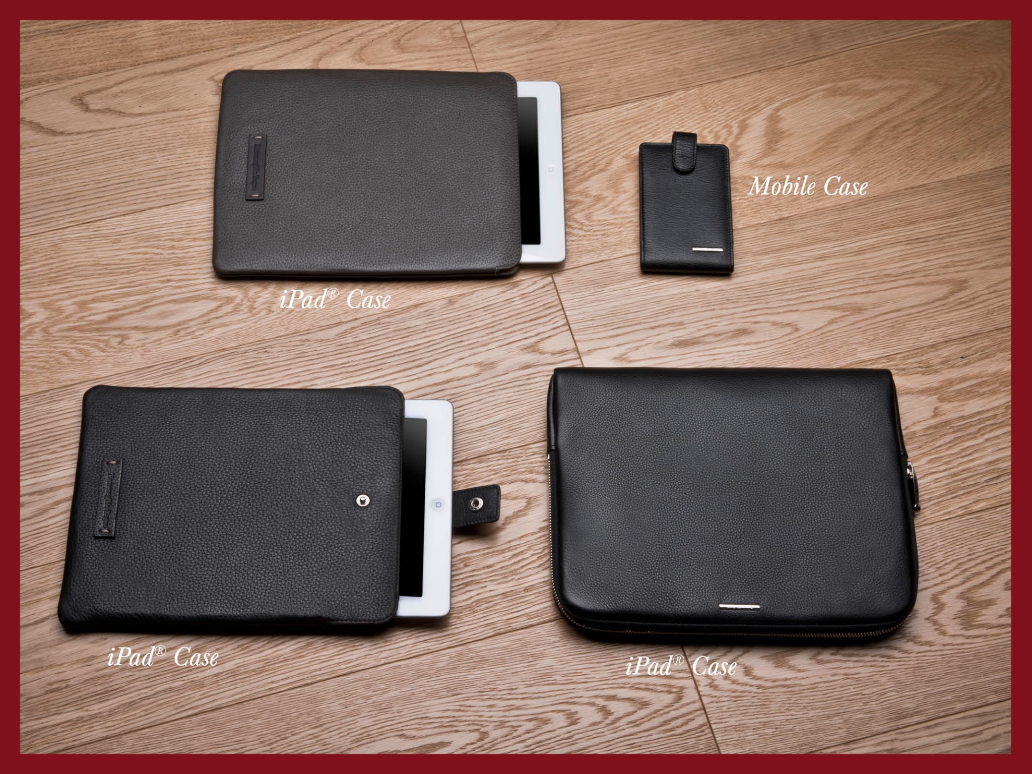 Photo: Ermenegildo Zegna - Holiday Season Selection - Digital cases in different leather types: which one do you prefer? Shop online at http://bit.ly/X47GwN