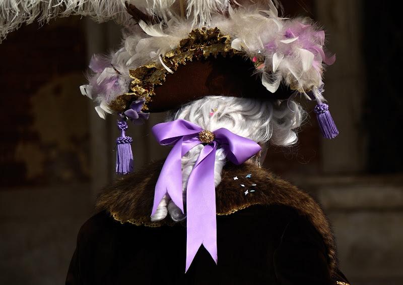 IL fiocco viola di Isidoro.