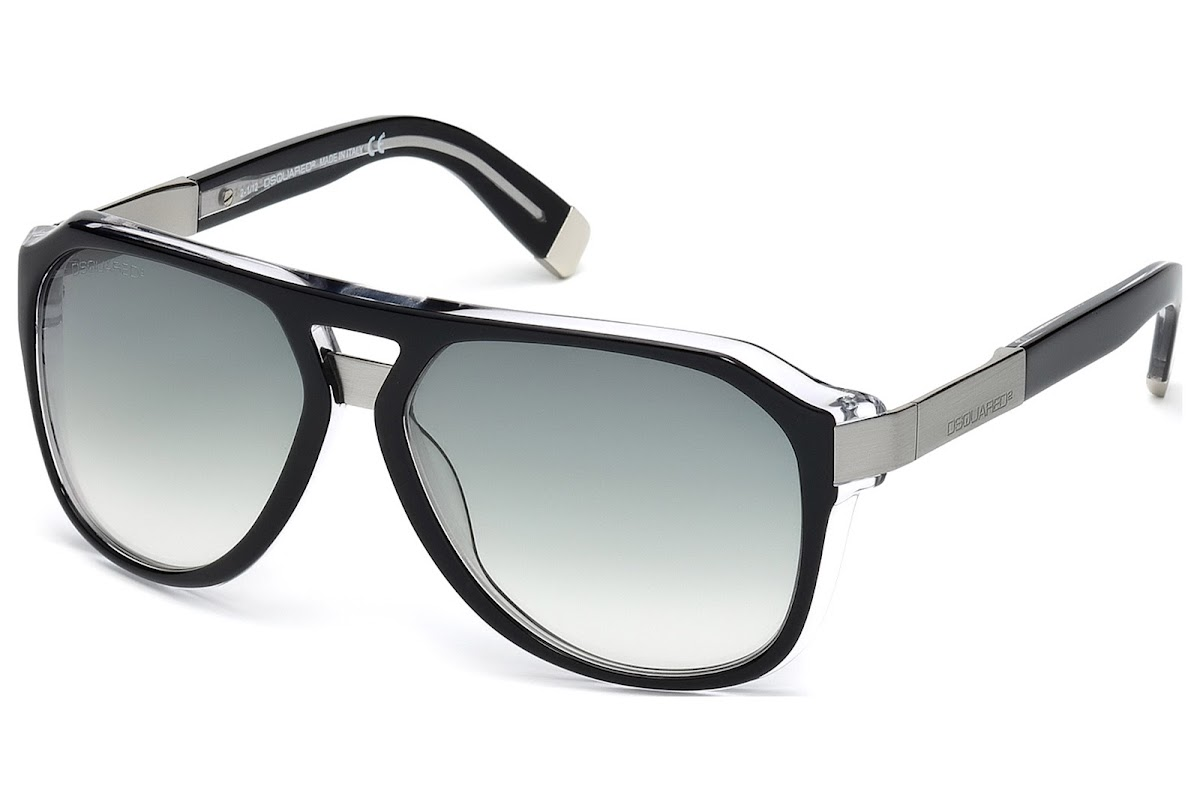 b75fb2ce64db Buy Dsquared2 DQ0027 C58 03B (black crystal   gradient smoke) Sunglasses