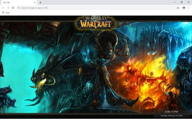 World of Warcraft New Tab Theme