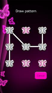 Růžové Neonové Motýly Zamknout Obrazovku - náhled