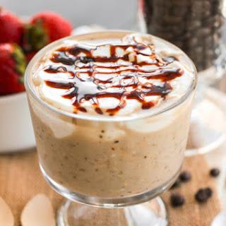 Healthy Caramel Macchiato Overnight Dessert Oats