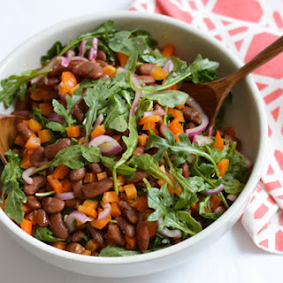 Warm Bean Salad with Miso Dressing