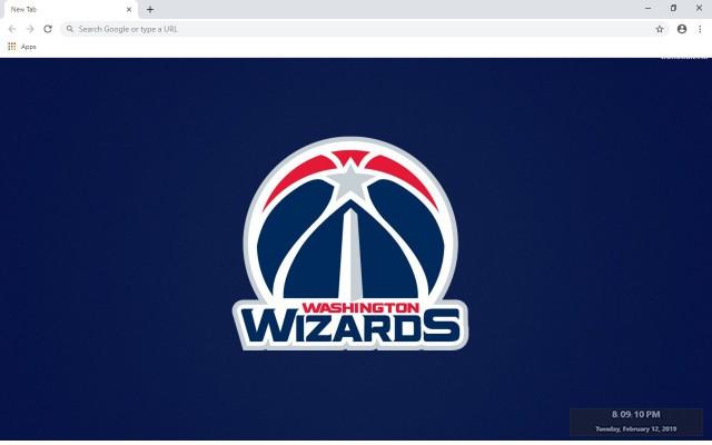 Washington Wizards New Tab Theme