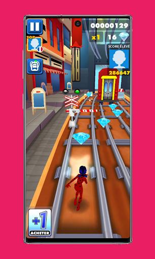 subway Lady Endless jump V3: cat runner noir jogos apktram screenshots 1