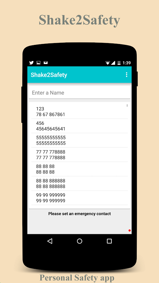 Shake2Safety - Personal Safety- screenshot