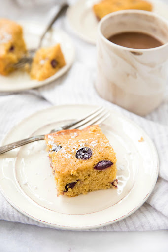 Cornmeal Cakes with Divine Flavor Jellyberry Grapes