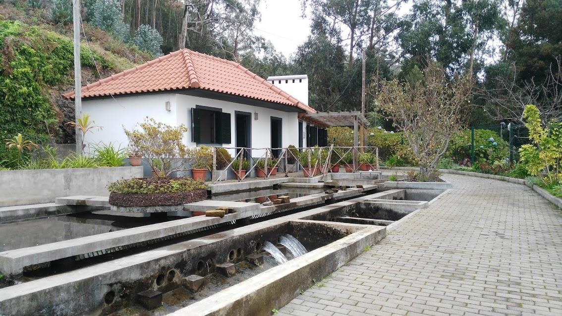 Levada house with distribution station. This one is on the Levada Nova in the Estreito da Calheta area.