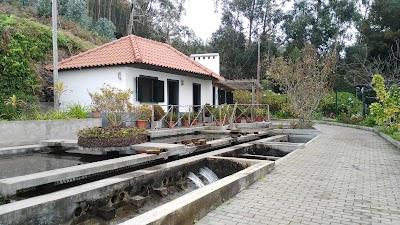 Levadeiro-huisje met verdeelstation. Deze liggen aan de Levada Nova in Estreito da Calheta.
