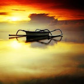 The Sun Also Rises by Kadek Jaya - Landscapes Sunsets & Sunrises ( water, bali, reflection, beach, sunrise )