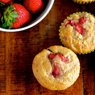 Strawberry Oatmeal Breakfast Muffins.