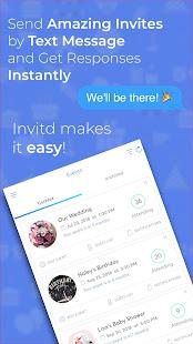 Invitd invitation maker text rsvp apps on google play screenshot image stopboris Images