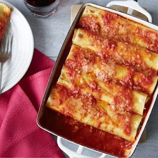 Italian Sausage, Spinach, and Ricotta Cannelloni.