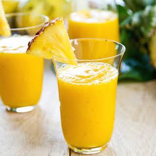 Banana-Pineapple Protein Blaster Smoothie.