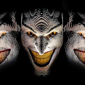 The Art of the Brick....the Joker... by Katherine Rynor - Artistic Objects Toys ( joker, faces, art, bricks, lego )