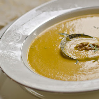 Carrot Tarragon and Walnut Soup